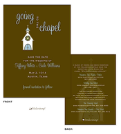 Going to the chapel Save The Date Card