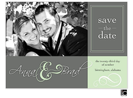 Green and gray Digital Photo Save The Date