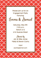 Ovals Custom Invitation