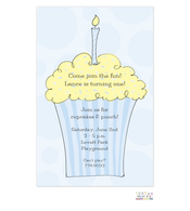 Boy Cupcake Invitation