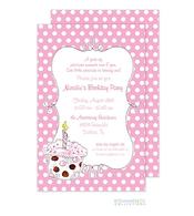 Cupcake Invitation - Pink