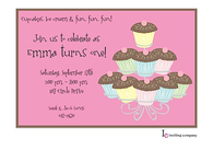 Cupcake Time Invitation
