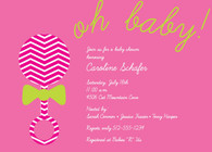 Rattle Oh Baby Pink Custom Invitation