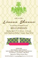 Linens Shower Custom Invitation