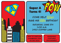Comic Book Custom Invitation