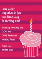 Cupcake Pink Custom Invitation