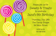 Lollipops Custom Invitation