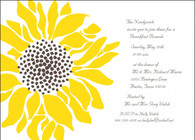 Sunflower Custom Invitation