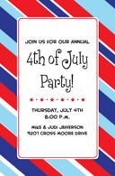 Patriotic Stripes Custom Invitation