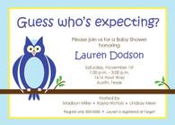 Blue Owl Custom Invitation