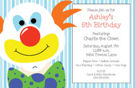 Clown Custom Invitation