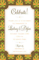 Fall Damask Custom Invitation