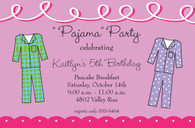 Pajama Party Custom Invitation