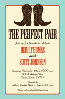 Perfect Pair Light Blue Custom Invitation