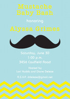 Mustache Bash Custom Invitation