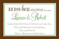 His & Hers Couples Shower Custom Invitation