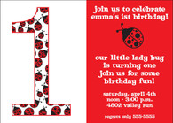 Little Ladybug Custom Invitation
