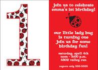 Little Ladybug Custom Invitation