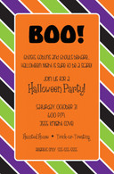 Halloween Stripes Custom Invitation