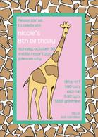 Giraffe Custom Invitation