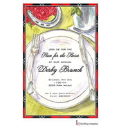 Derby Placesetting Invitation