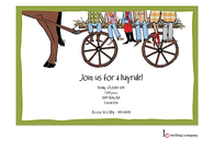 Hayride Feet Invitation