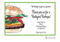 Juicy Burger Invitation