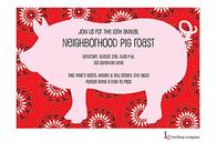 Pig Bandana Invitation