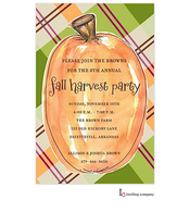 Plaid Pumpkin Invitation