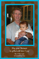 Chocolate Polka Dots Custom Photo Card