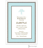 Antique Bead Border Aqua Invitation