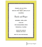 Beaded Border Limeade Invitation