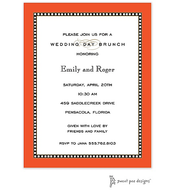Beaded Border Orange Invitation
