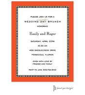 Beaded Border Orange Invitation