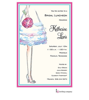 Bride's Legs Invitation