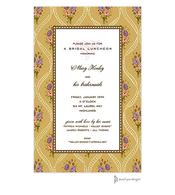 Ribbons & Flowers Gold Invitation