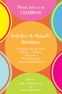 Bright Circles Custom Invitation