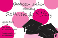 Pink Dot Graduation Custom Invitation