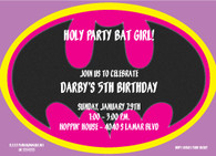 Bat Girl Custom Invitation