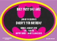 Bat Girl Custom Invitation