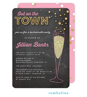 Bubbly Invite Chalkboard Invitation
