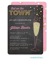 Bubbly Invite Chalkboard Invitation