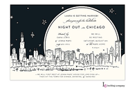 Chicago Skyline Invitation