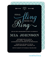 Final Fling Blue Invitation