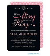 Final Fling Pink Invitation