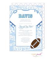 Blue Collegiate Football Invitation