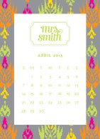 iKat Multi Grey, Verner Font in Limeade with White Bookplate Frame