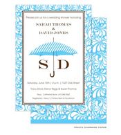 Blue Umbrella Shower Invitation
