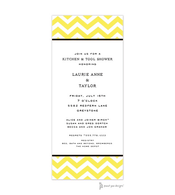 Chevron Citrine Invitation