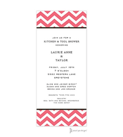 Chevron Coral Invitation